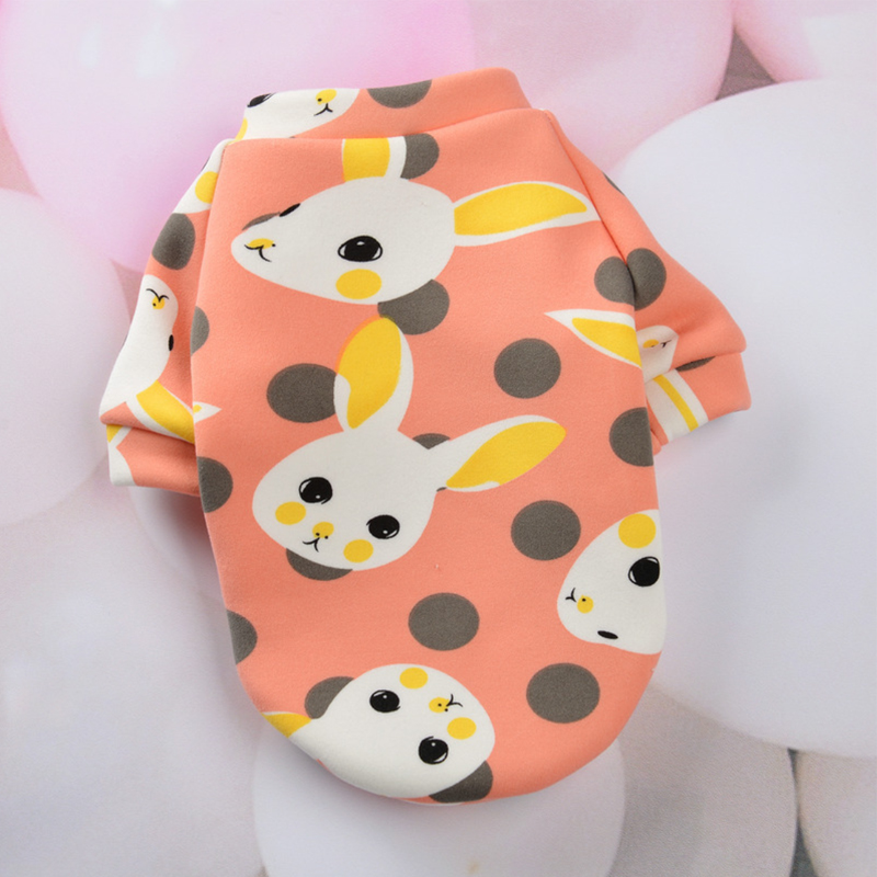 Cute Print Small Dog Hoodie Coat Winter Warm Pet Clothes for Chihuahua Shih Tzu Sweatshirt Puppy Cat Pullover Dogs Pets Clothing 10