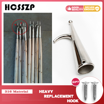 Boat Accessories 316 Stainless Steel  Replacement Hook 17x3.4cm Yacht Inflatable Fishing Boat Kayak For Boat new durable inflatable boat transom launching wheel for inflatable dinghy yacht tender raft rowing boats accessories