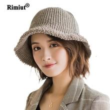 Sombrero boina de lana tejida para invierno para mujer, gorro de lana cálido, gorros de lavabo sencillos, gorros de punto para mujer