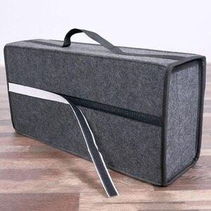 Image 5 - Auto Trunk Organizer Auto Lagerung Tasche Fracht Container Box Feuerfeste Verstauen Aufräumen Halter Multi Tasche Auto Styling 50*17*24cm