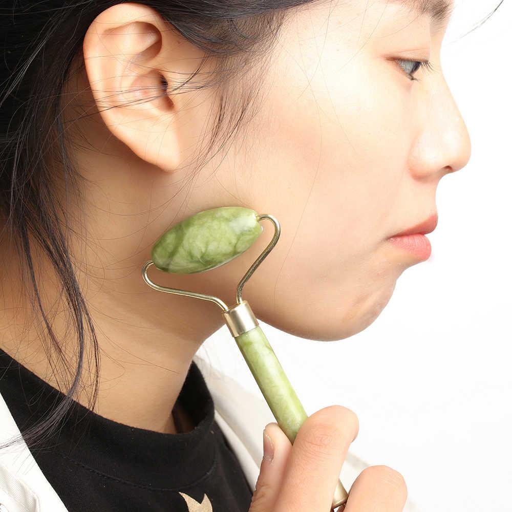 Kepala Pijat Wajah Roller Jade Wajah Pelangsing Tubuh Kepala Leher Alam Kecantikan