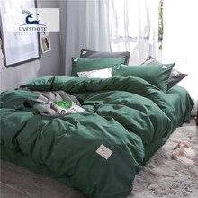 Liv-Esthete Luxury Dark Green Bedding Set Soft Printed Duvet Cover Flat Sheet Double Queen King Bed Linen Quilt