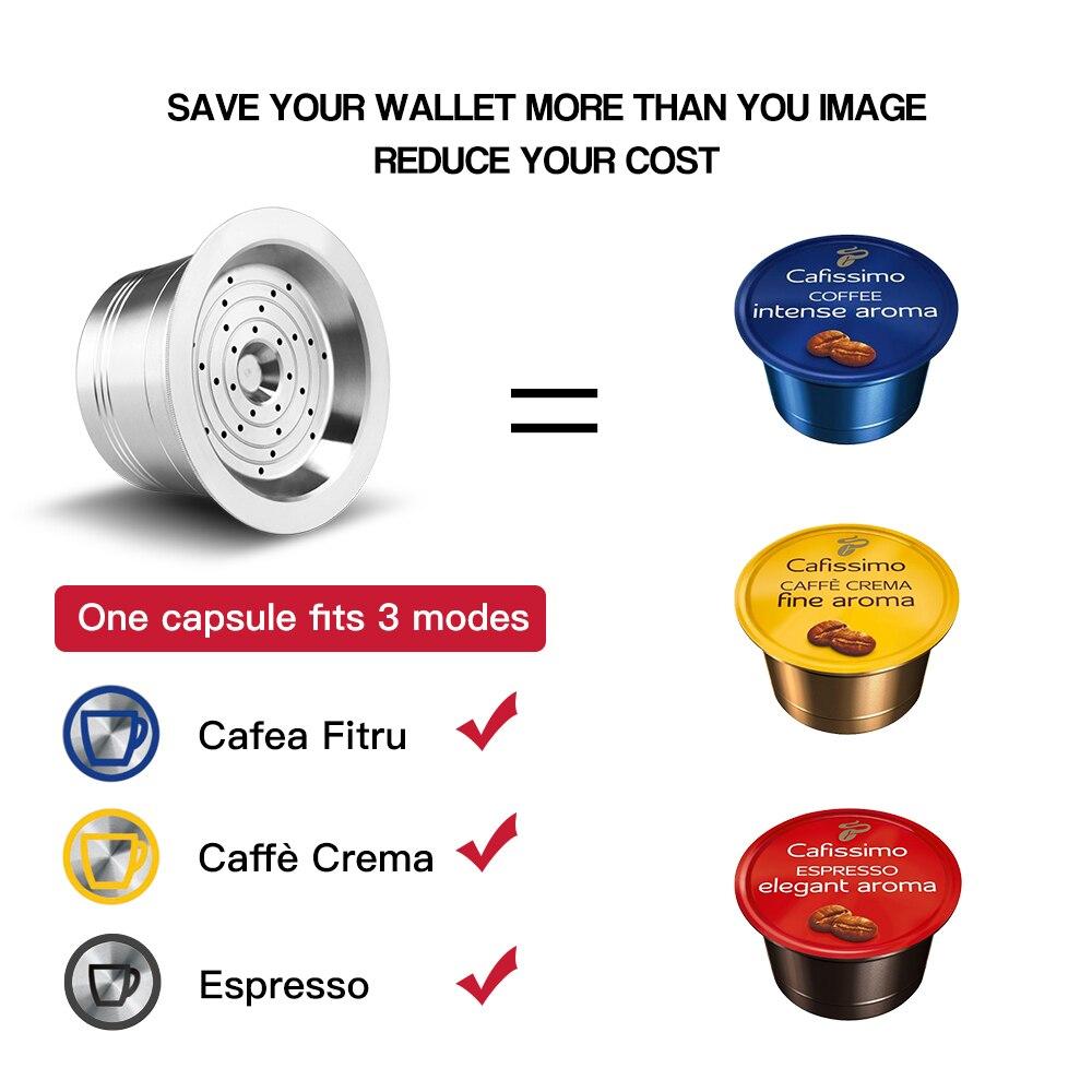 كبسولات القهوة ل Cafissimo Tichibo الفولاذ المقاوم للصدأ إعادة الملء القرون Crema قابلة لإعادة الاستخدام مضخة قهوة دائمة