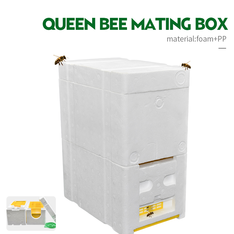 Honey Beehive Frames Beekeeping Tool Harvest Bee Hive King Foam Pollination Box For Bee Mating Copulation Beekeeping Equipment