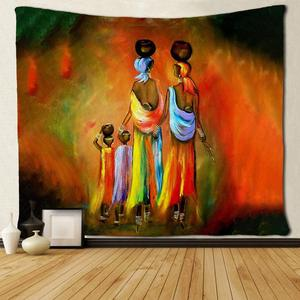 Африканские женщины и дети черное искусство афро гобелены хиппи искусство настенные