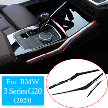 Auto Center Konsole Wasser Tasse Seite Dekoration Streifen Trim ABS Für BMW 3 Serie G20 G28 320i 325li 2020 2021 innen Zubehör