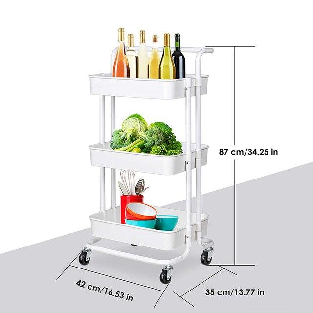 Кухонная мебель 3 уровня тележка для хранения органайзер кухни