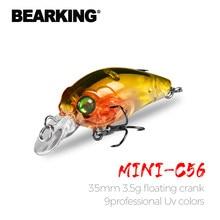 Bearking superior wobblers iscas de pesca crankbaits minnow qualidade profissional ganchos de pesca iscas 3.5cm 3.5g equipamento de pesca