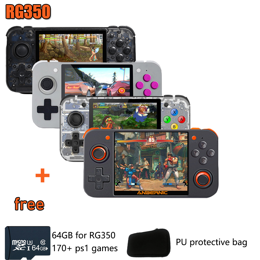Whatsko New Retro Game RG350 Video Game Handheld game console MINI 64 Bit 3.5 inch 16G+32G+64GB TF Game Player 14000+ PS1 title=