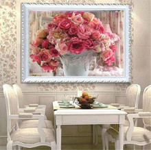 5d cross stich Flowers Beautiful Dream Houses Dimond Painting Crafts Square Kits Diamond Embroidery