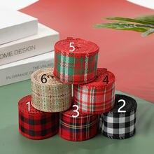 Рождественская лента из льняной ткани «сделай сам» 6 м/рулон