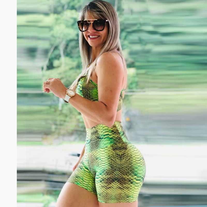 การออกกำลังกายการบีบอัดSpandexออกกำลังกายกางเกงขาสั้นผู้หญิงสั้นกางเกงขาสั้นโยคะLicras Deportivas Mujerสูงเอวกระชับแน่น