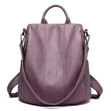 Sırt çantası kadın deri sırt çantası 2019 su geçirmez sırt çantası büyük kapasiteli okul çantaları genç kızlar için anti hırsızlık seyahat sırt çantası