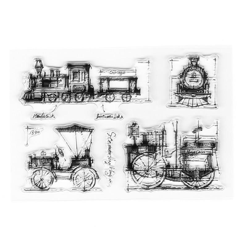 Античный транспорт, прозрачные марки, винтажный фоновый элемент, марки для скрапбукинга