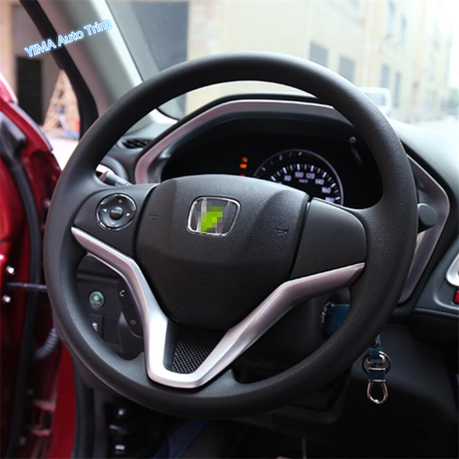 Lapetus Auto Styling Steering Wheel Strip Cover Trim Fit For Honda Vezel HR-V 2014 - 2019 ABS Matte / Carbon Fiber Look