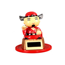 Solar energy dodding babies desktop and car decorations  New Year decorations Christmas gifts