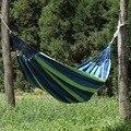 Tragbare Hängematte Im Freien Hängematte Garten Sport Home Reise Camping Schaukel Leinwand Streifen Hängen Bett Hängematte Rot, blau 190x80cm