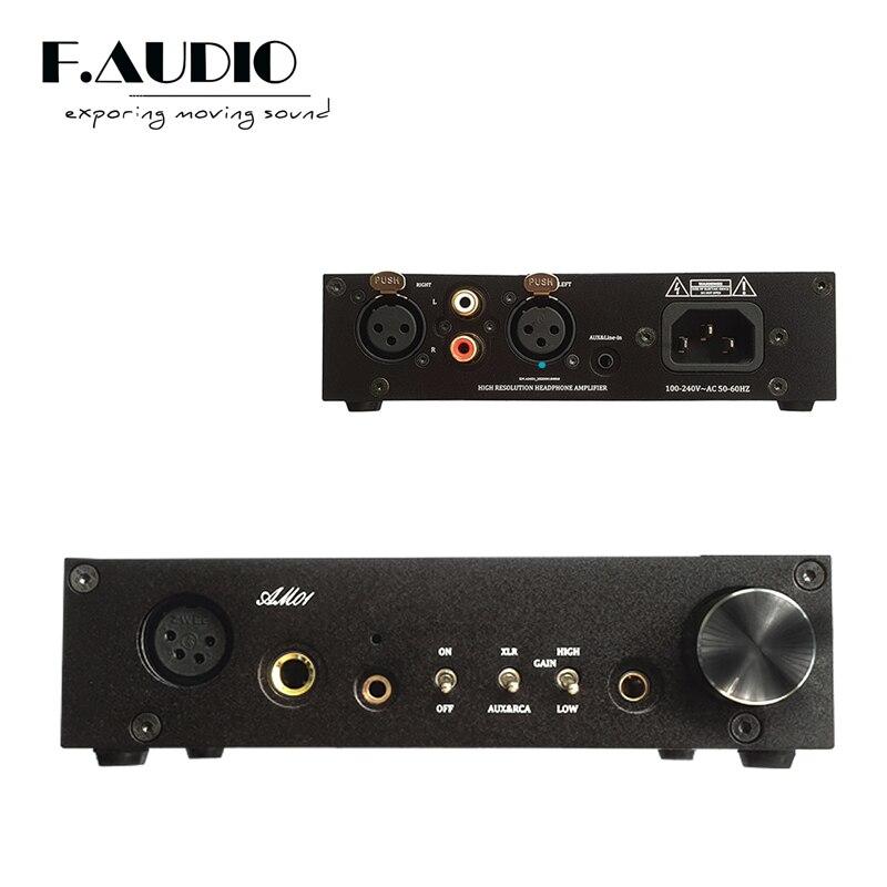 Новейший усилитель для наушников F.Audio AM01 сбалансированный усилитель с XLR RCA входом 6,35 мм 4,4 мм 3,5 мм усиление VS SP200 выход 2020
