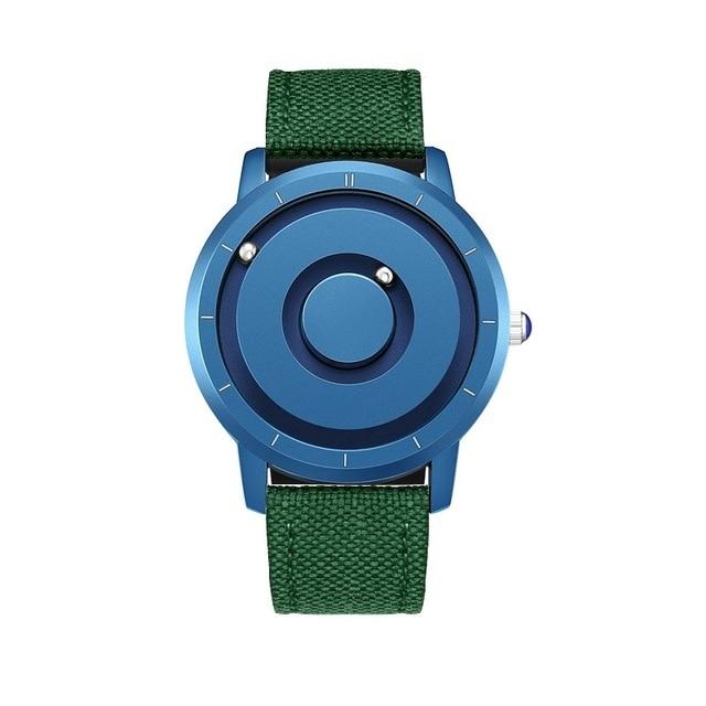 EUTOUR New Innovative Blue Gold Magnetic Metal Multifunctional Watch Men's Fashion Sports Quartz Watch Simple Men's Watch 7
