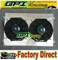 Алюминиевый радиатор кожух + вентиляторы для Nissan Silvia S14 S15 SR20DET 240SX 200SX + кожух + вентилятор