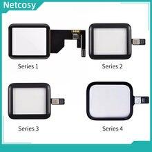Painel de lente de vidro digitador da tela de toque para apple assistir série 1 2 3 4 38mm 42mm 40mm 44mm touchscreen repiar peças
