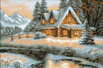 14 16 18 25 22 kolor AIDA piękny gorący bubel haft krzyżykowy zestaw do szycia widok zimowy dom śniegu dom nad jeziorem riolis 1080 tanie i dobre opinie oneroom cartoon PACKAGE OBRAZY Składany 100 COTTON Europejska PAPER BAG