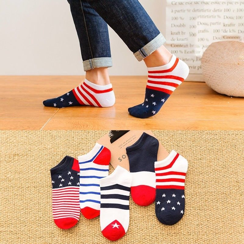 5 Pairs 10 Pairs Cotton Letters Comfortable Breathable Men Ankle Sock Summer Hip Hop Harajuku Hipster Socks Men Funny Sock