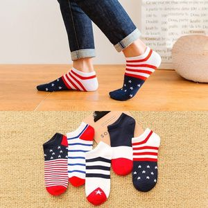 5 Pairs 10 Pairs Cotton Letters Comfortable Breathable Men Ankle Sock Summer Hip Hop Harajuku Hipster Socks Men Funny Sock(China)