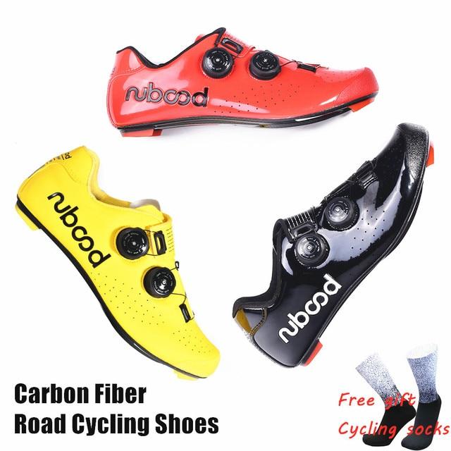 2019 novo quente sapatos de ciclismo de estrada de fibra de carbono auto-travamento ultraleve respirável wear antiderrapante profissional sapatos de corrida de bicicleta 1