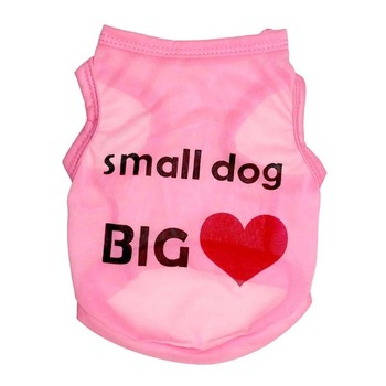 Letter Vest Pet Clothing Print for Dog Clothes Medium Costume French Bulldog Print Cotton Dogs Cute Summer Pink Boy Collar Perro image