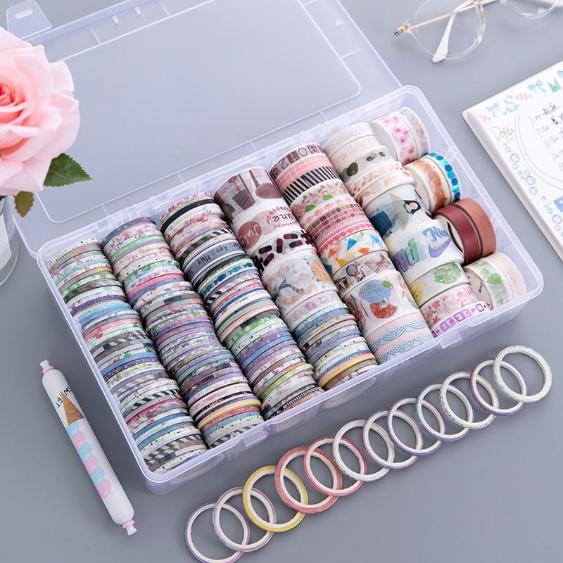 1Set Cute Washi Tape Set Kawaii Masking Tapes For Kids DIY Decorative Planner Diary Split Line Tape Scrapbooking Photo Ablums