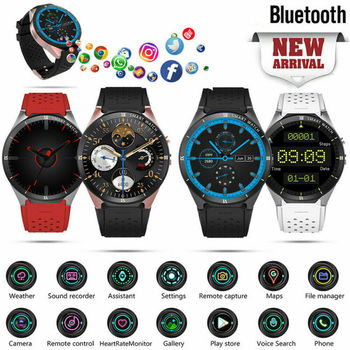 KW88 Pro 3G GPS WIFI Smart Watch GB + 16GB Bluetooth 4.0 Dial Call 1.3Ghz Quad-Core Smartwatch for Universal Phone