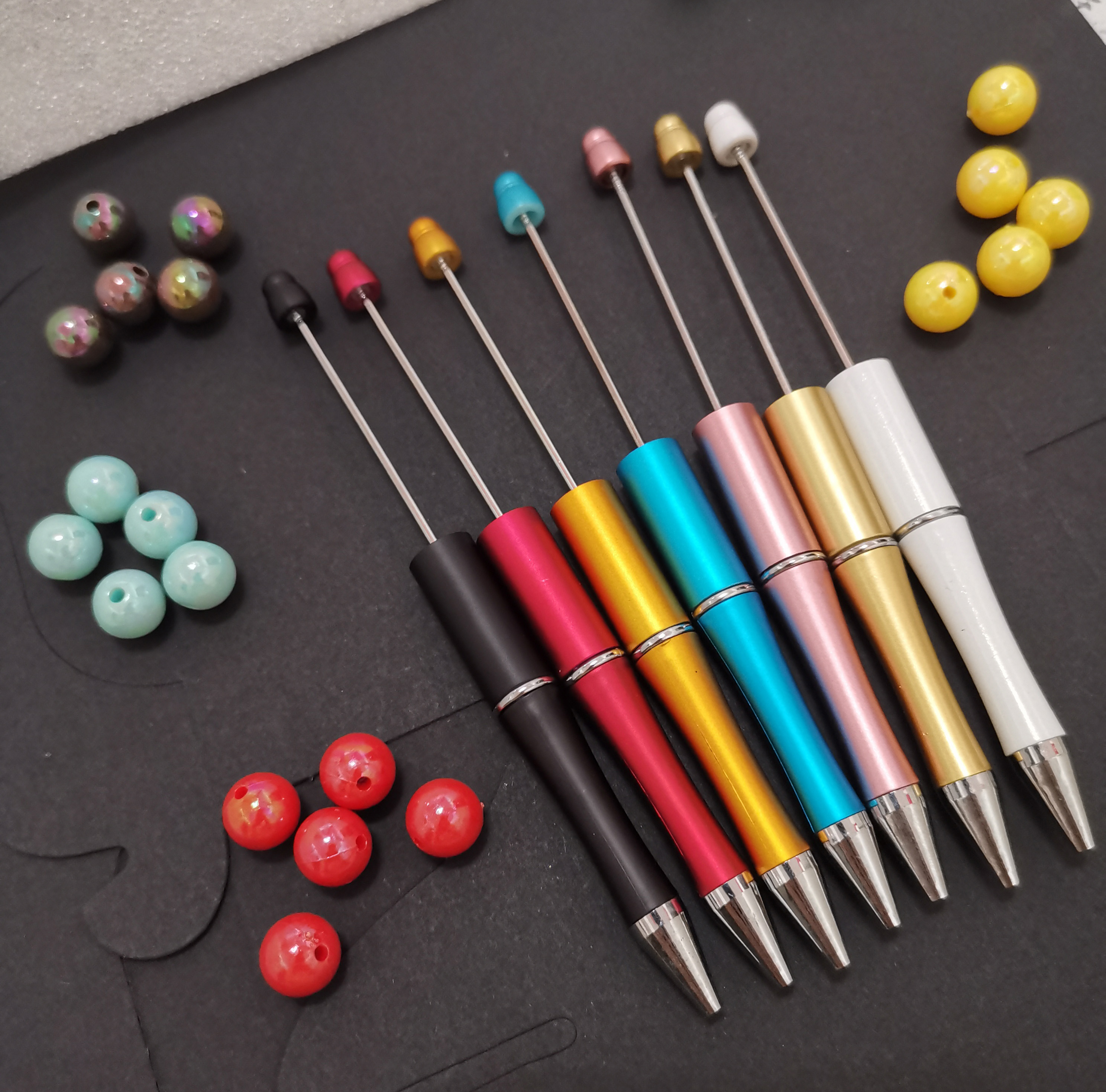 10pcs/lot Plastic Beadable Pen Bead Pens Ballpoint Pen Gift Ball Pen Kidsparty Personalized Gift Wedding Gift For Guests