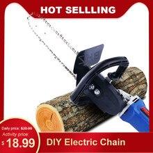 Bricolage électrique scie à chaîne convertisseur tronçonneuse outils support arbre coupe scie meuleuse dangle en bois scie à chaîne pour outil de travail du bois