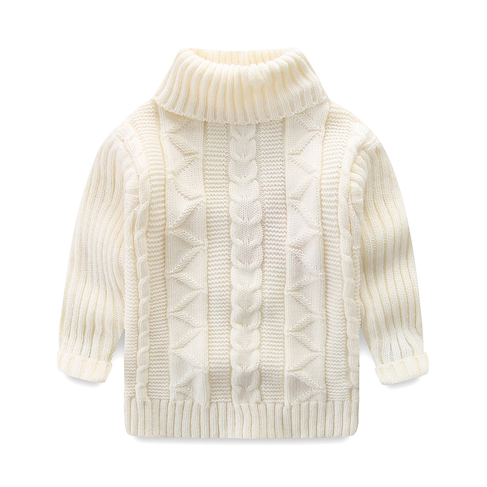 Mudkingdom Boys Sweater Pullover Solid Autumn and Winter Cotton Knitted Sweater Girls Tops Kids Sweaters 5