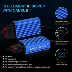 Image 3 - MAXGTRS H1 H4 Hi/Lo wiązka H7 H8 H11 9005 HB3 9004 H27 880 881 żarówki LED do reflektorów samochodowych 80W CSP LED reflektor samochodowy przeciwmgielne przednie światła