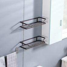 Wrought Iron Storage Rack Kitchen Shelf Wall Hanging Bathroom Cosmetic Holders Rectangular Seasoning Organizer