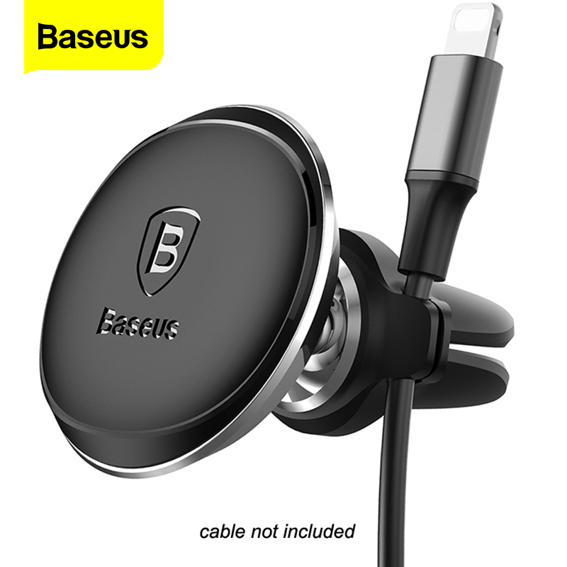 Baseus Cable Organizer Magnetic Car Phone Holder For IPhone Xs Max X Samsung Car Magnet Air Vent Mount Mobile Phone Holder Stand