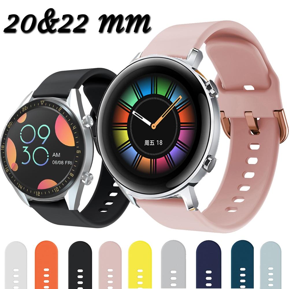For Huawei Watch GT2 GT 2 GT 42mm 46mm Smart Watch 20mm Watch Strap Silicone Watchbands ремешок 22mm Watch Band Bracelet