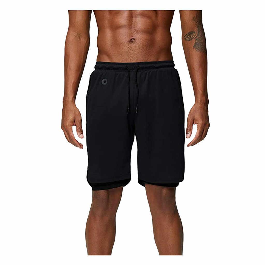 Estate Pantaloni di scarsità degli uomini di Doppio Strato di Quick-Dry Multi-Funzionale Pantaloni Per Lo Sport Shorts Con Tasche Di modo Nuovo Maschio pantaloni della tuta