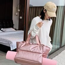 Duffle-Bags Shoulder-Handbag Yoga-Mat Sports-Bag Weekend Gym Travel Pink Fitness Swimming