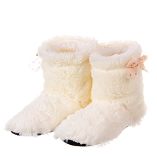 Glglgege 2019 Candy color Warm Home Slippers Women Bedroom Winter Slippers Cartoon Bowtie Plush Slippers Cotton Floor Home Shoes dreamshining warm slippers women bedroom winter slippers women cartoon bowtie japanese indoor slippers cotton floor home shoes