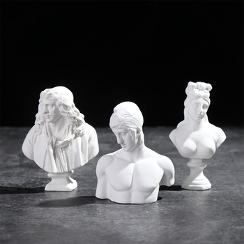 Greek Mythology Figurine Portraits Bust Mini Gypsum Statue Drawing Practice Crafts Plaster Sculpture Nordic Home Decor