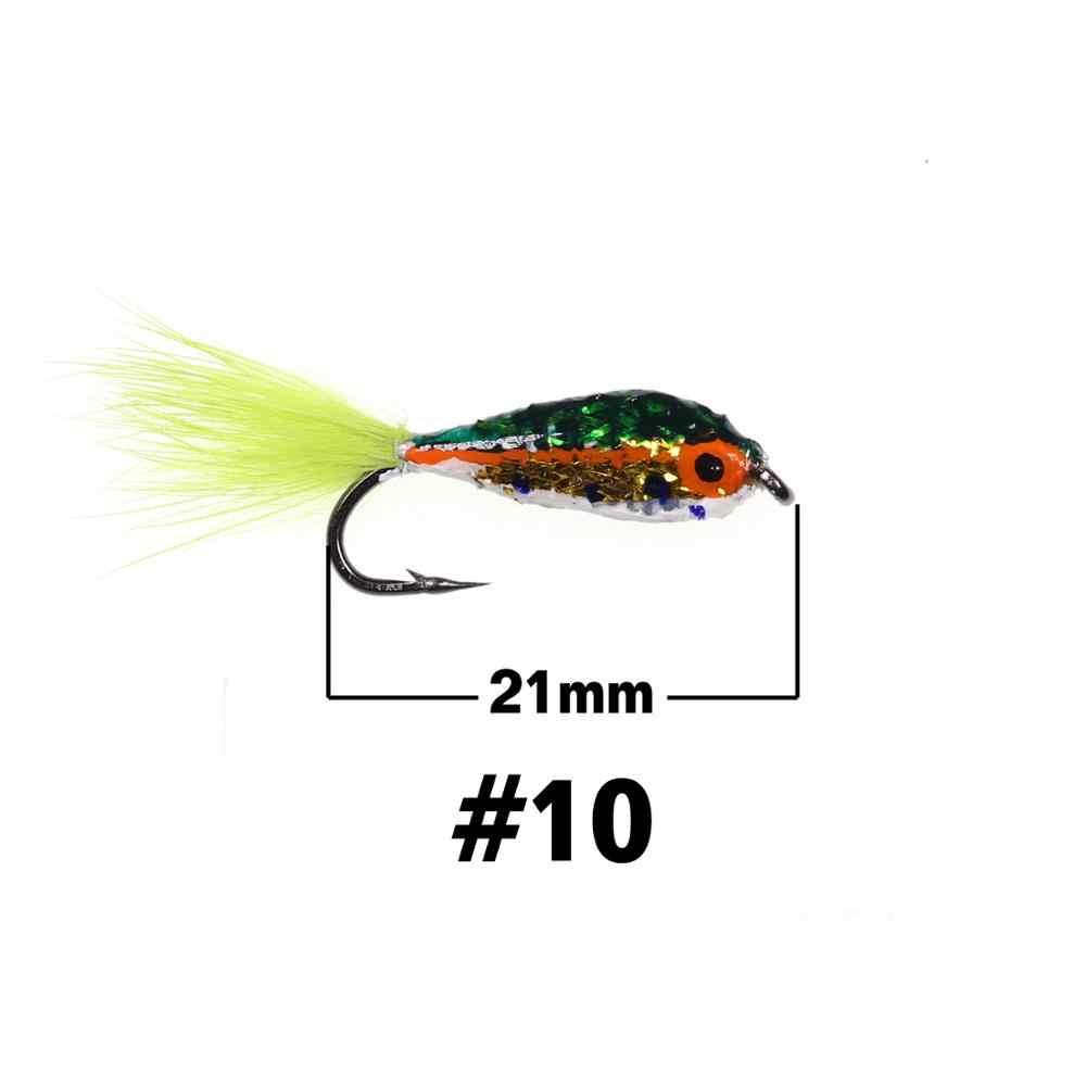 Saltwater Fly Fishing Flies #10 6 Bread Flies