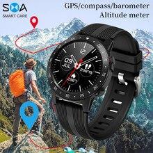 Smawatch m5 relógio inteligente smartwatch gps bluetooth chamando bússola barômetro altitude ao ar livre relógio inteligente masculino feminino