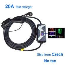 Портативное зарядное устройство EV Type 1 для автомобиля, кабель для домашнего использования, адаптер EV