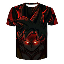 Dragon Ball Z T Shirts Mens Summer Fashion 3D Print Super Saiyajin Son Goku Black Zamasu Vegeta Dragon T-shirt Tops Plus Size(China)