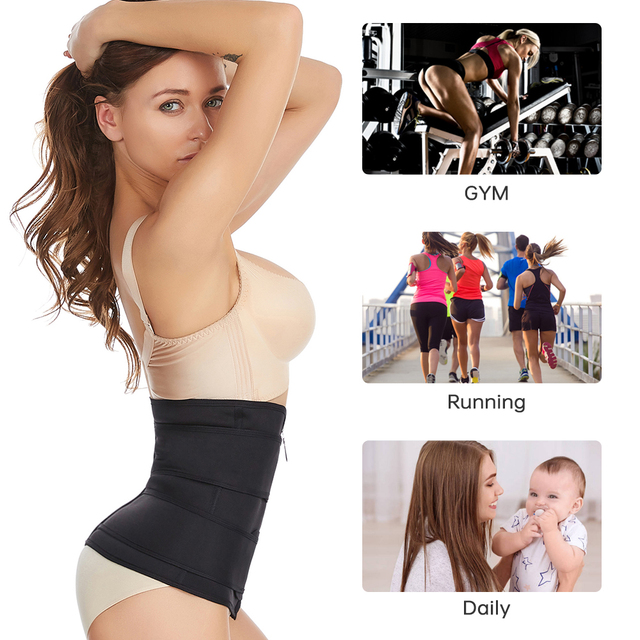 2020 New Fitness Waist Trainer Corset Sweat Belt for Women Weight Loss Compression Trimmer Workout Body Shaper Fitness S-3XL 2