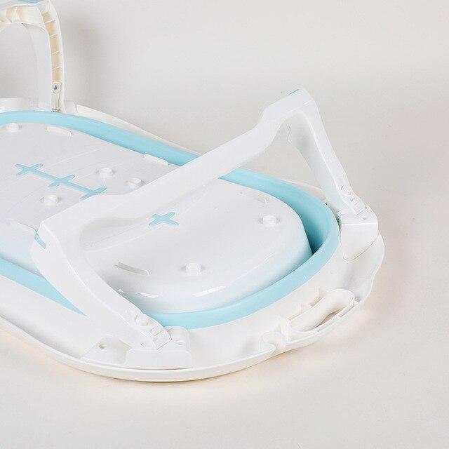 Newborn Baby Folding Bath Tub Portable Foldable Kids Washing Bathtub Folding Non-Slip Bathtub Home Multifunction Baby Product 6