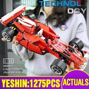 Mini Lepining Building Blocks Bricks Technic Car The 8386 F1 Racer 1:10 Speed Car Assembly Car Model Toys Kids Christmas Gifts